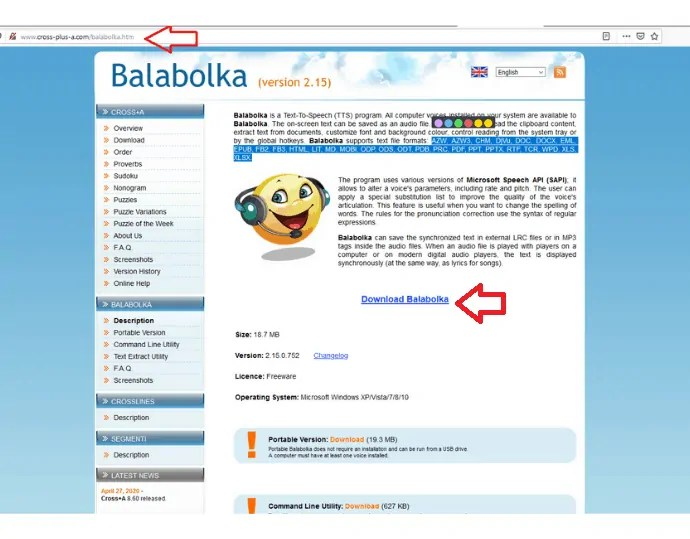 Step 1 Download and install Balabolka from the official website.