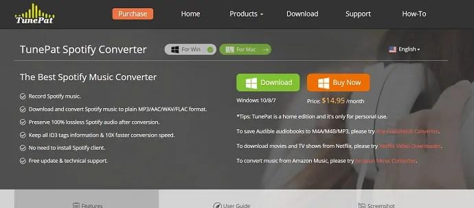 TunePat spotify converter.