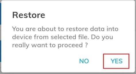 confirm the restore