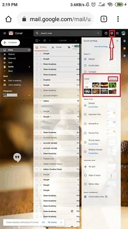 select view all option from themes section.