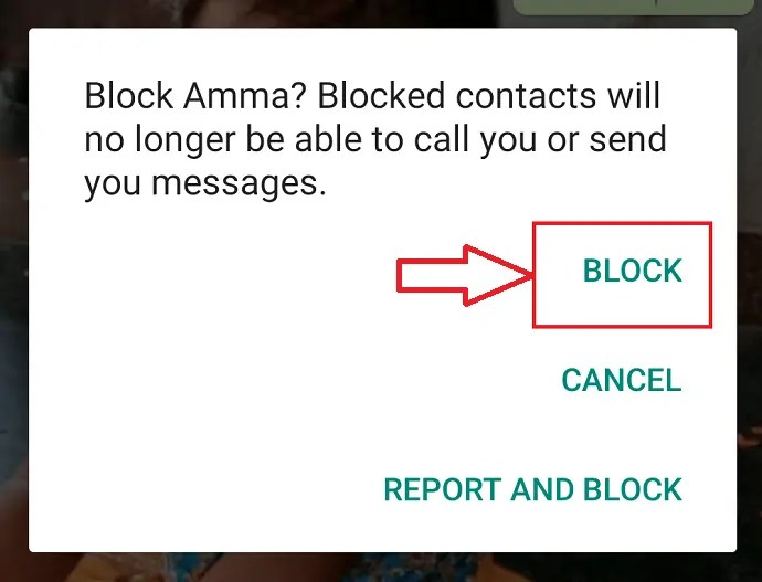 Read and click on block