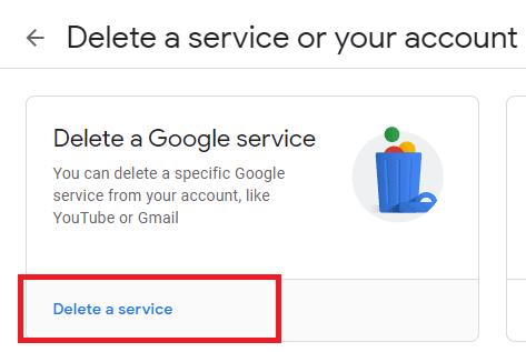 delete a service
