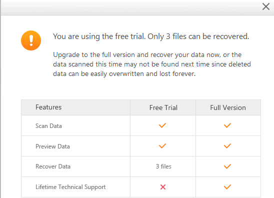 only 3 files support in free version