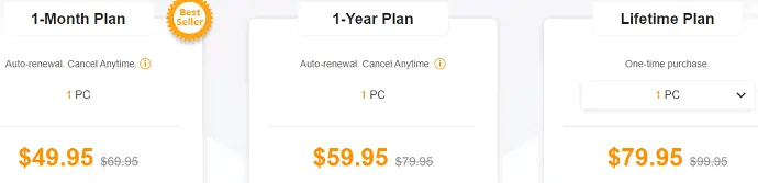 Plans and prices