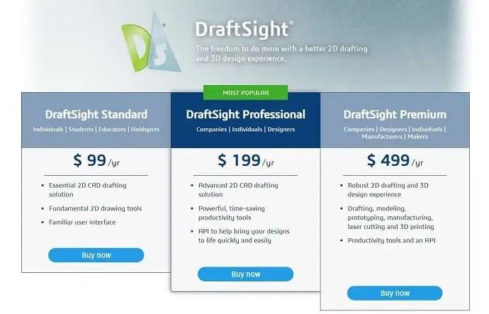 DraftSight Pricing