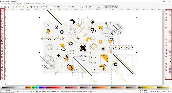 Inkscape editing interface
