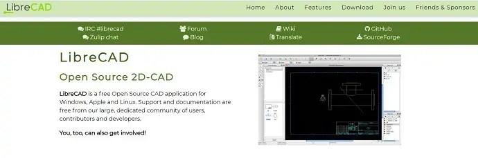 LibreCAD Official Page