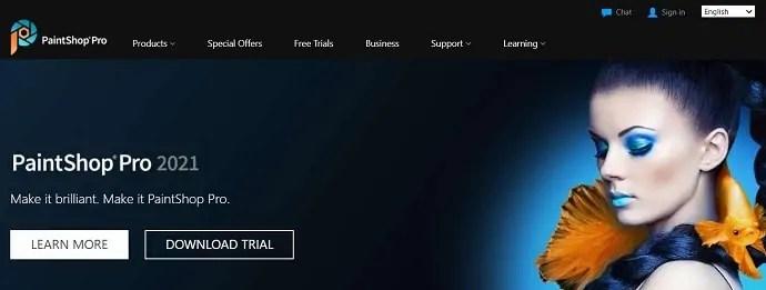 PaintShop Pro Homepage