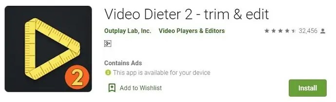 Video Dieter 2 Android application
