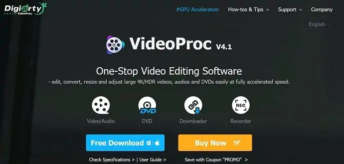 VideoProc Official homepage