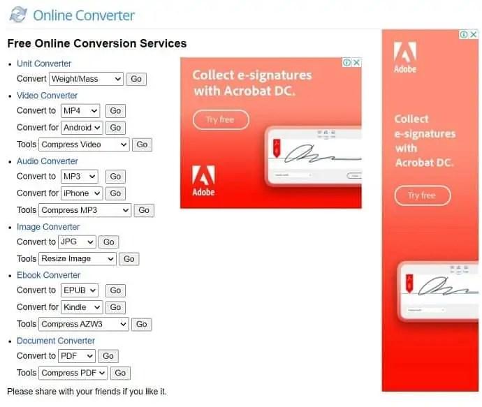 Online Converter Official site