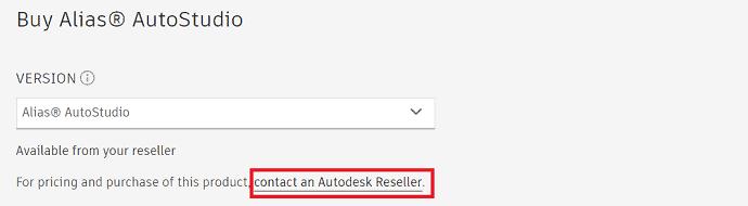 Alias Autostudio pricing