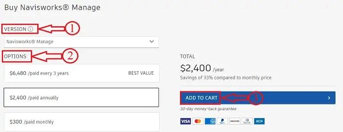 Navisworks manage pricing