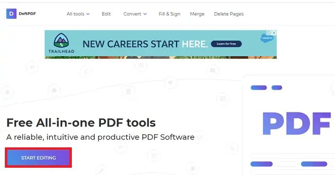 DeftPDF homepage