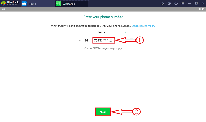 Whatsapp number verification