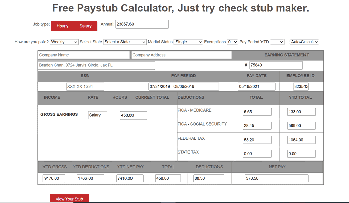 Paystubs online official site.
