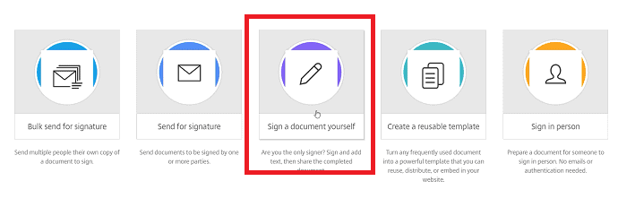 Sign a document yourself