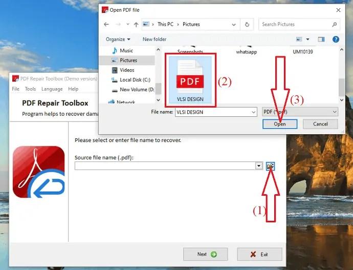 upload corrupted PDF file