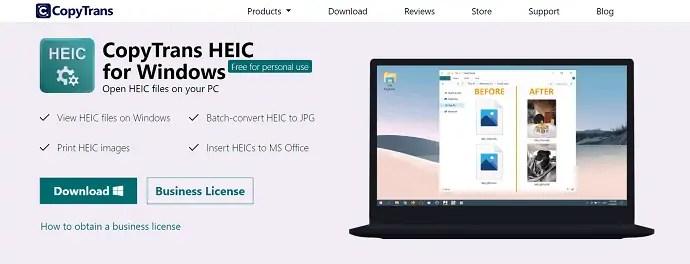 CopyTrans HEIC- Best converter tool for Windows.