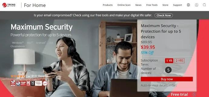 Trend Micro Maximum security for Mac