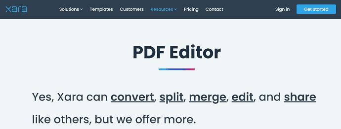 Xara PDF editor