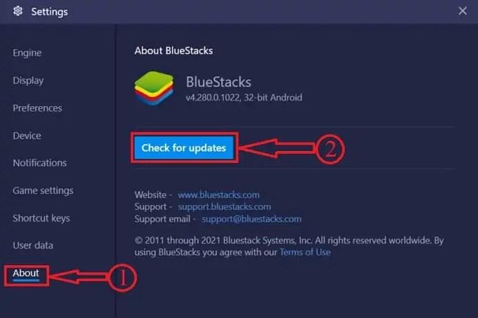Bluestacks Update
