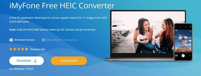 iMyFone HEIC Converter - Free tool for Windows