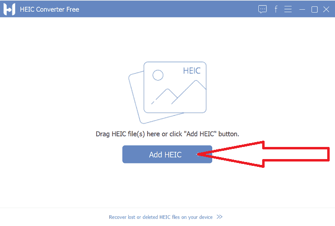 Select Add HEIC button