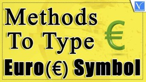 Methods to type the Euro symbol