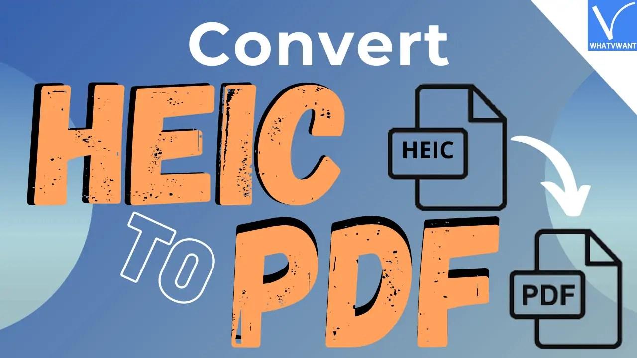 HEIC to PDF