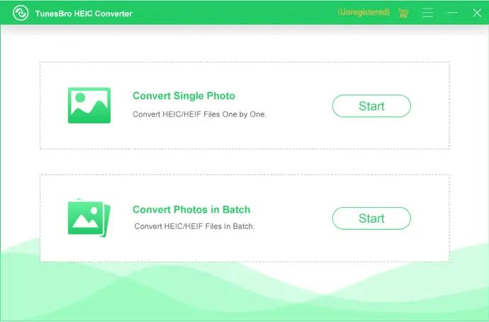 select the conversion mode