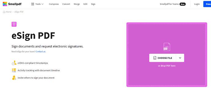Smallpdf-PDF-Signature-Site-Webpage