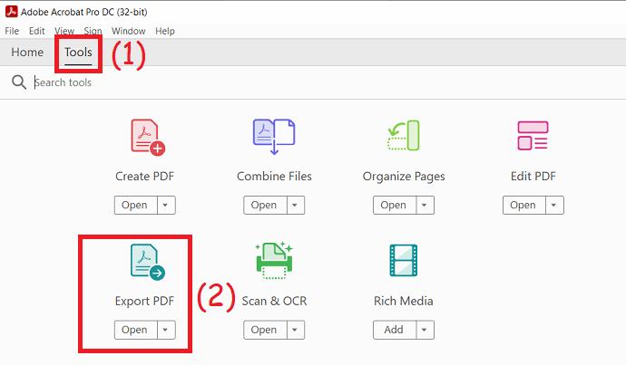Click on Export PDF