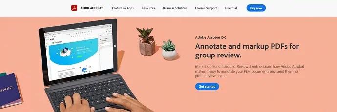 Adobe-Acrobat-DC-Homepage