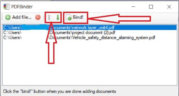 Merge PDF files.
