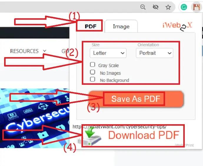 Tap on Download PDF option
