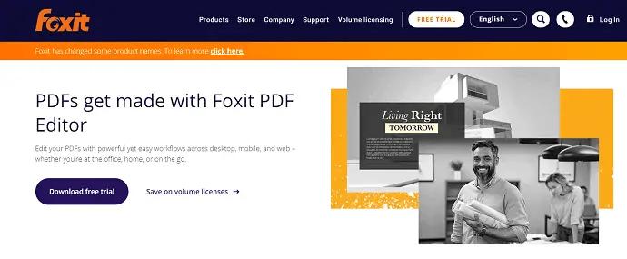 Foxit PDF editor