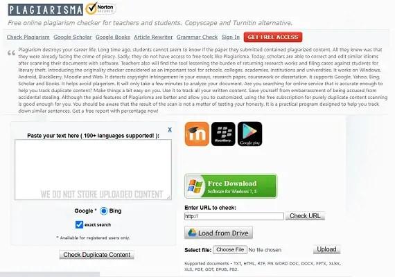 Plagiarisma Homepage