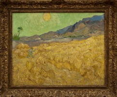 Van Gogh Wheatfield and Reaper for What Was on My...