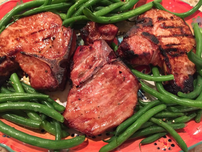 Bourbon-Brined Pork Chops