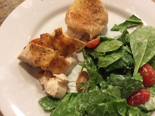 Roast chicken plate