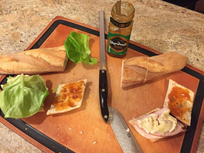 Brie, Turkey and Mango Chutney Sandwiches
