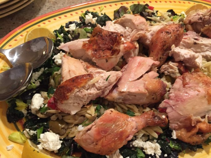 Chicken with Horta