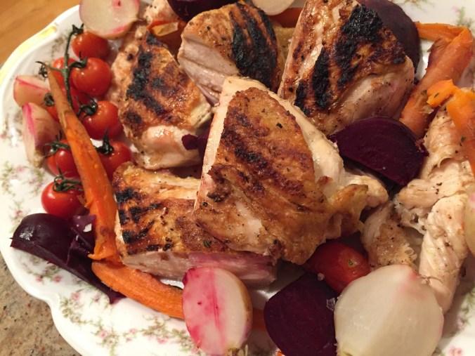 Chicken and root veg