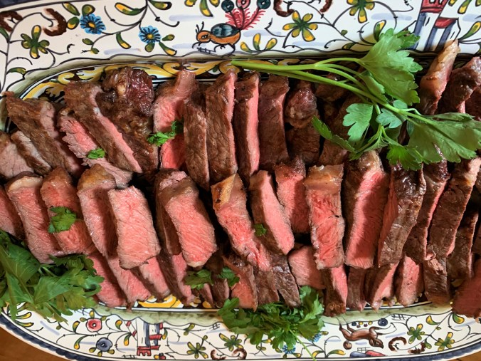 platter of steak