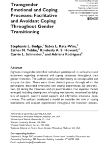 Transgender Emotional and Coping Processes