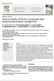Study of quality of life for transsexuals after hormonal and surgical reassignment