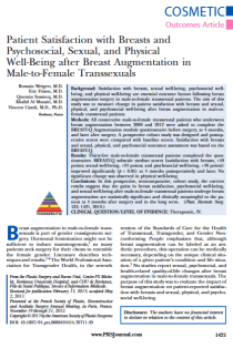 Patient satisfaction with breasts and psychosocial, sexual, and physical well-being after breast augmentation in male-to-female transsexuals