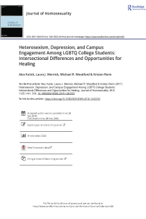 Heterosexism, Depression, and Campus Engagement Among LGBTQ College Students: Intersectional Differences and Opportunities for Healing.