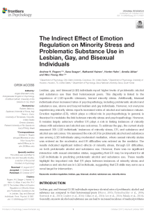 The Indirect Effect of Emotion Regulation on Minority Stress and Problematic Substance Use in Lesbian, Gay, and Bisexual Individuals.